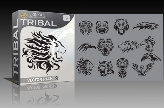 tribal9 Animal print, tribal and tech vector packs + t shirts