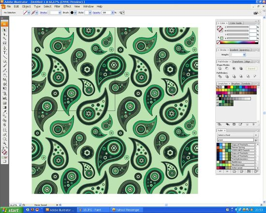 19 How to create a paisley seamless vector pattern