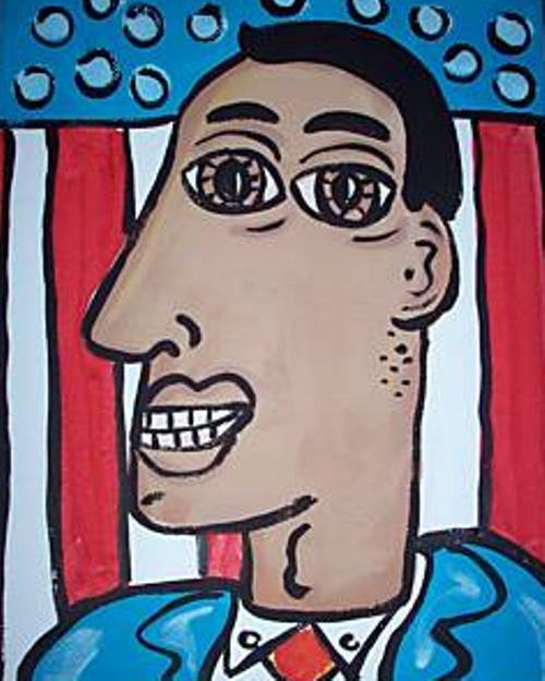 badpicassoimaitationobamaart Bad Obama Art
