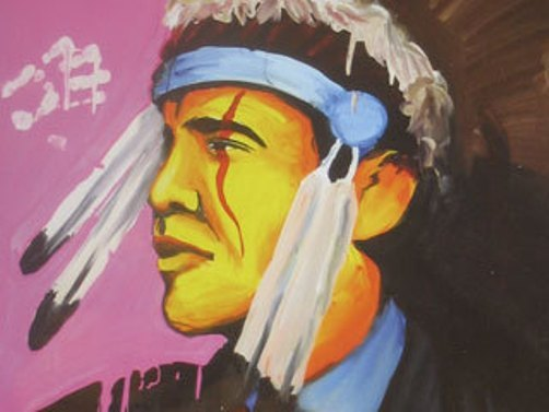 obamaasindianchiefnativeamerican Bad Obama Art
