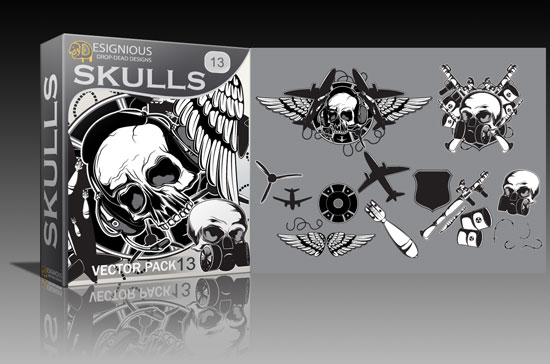 skulls13 Cool new vector packs