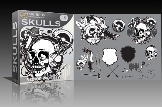 skulls15 Cool new vector packs