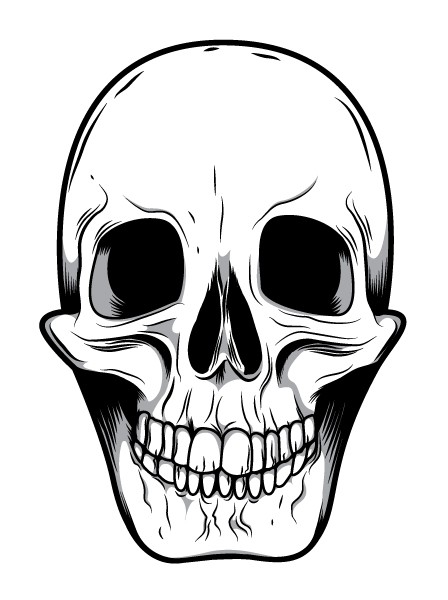 Skull Face Clip Art
