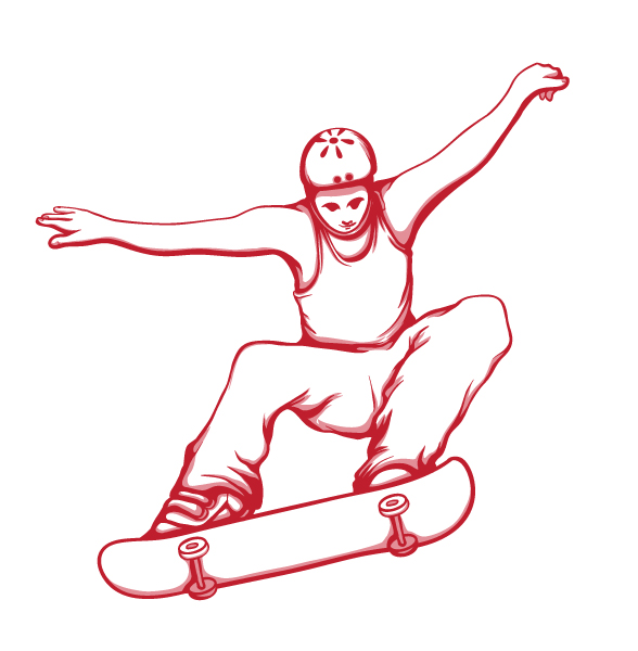 skate hairstyles. skater drawing