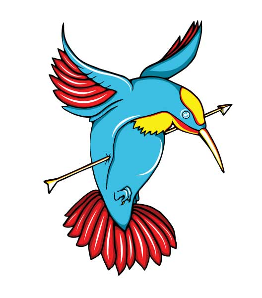 This vector tattoo bird is available for download only to our members.