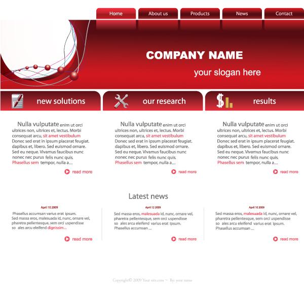 vector business website template Website business template