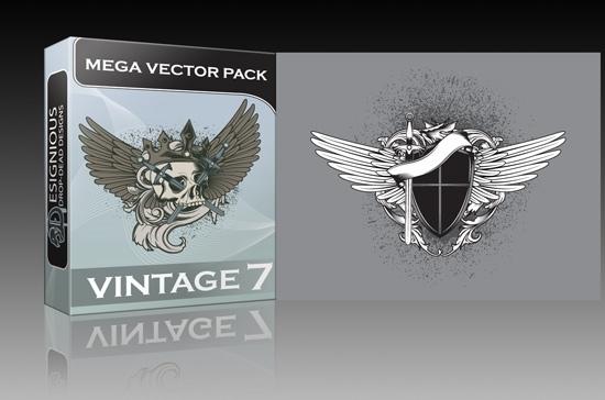 vintage mega pack 7 Vintage mega vector 7 pack is out