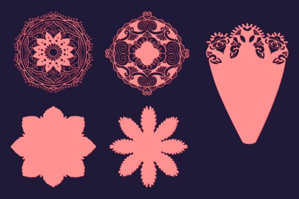 DIY Paper Flowers Kit flowers kit 2